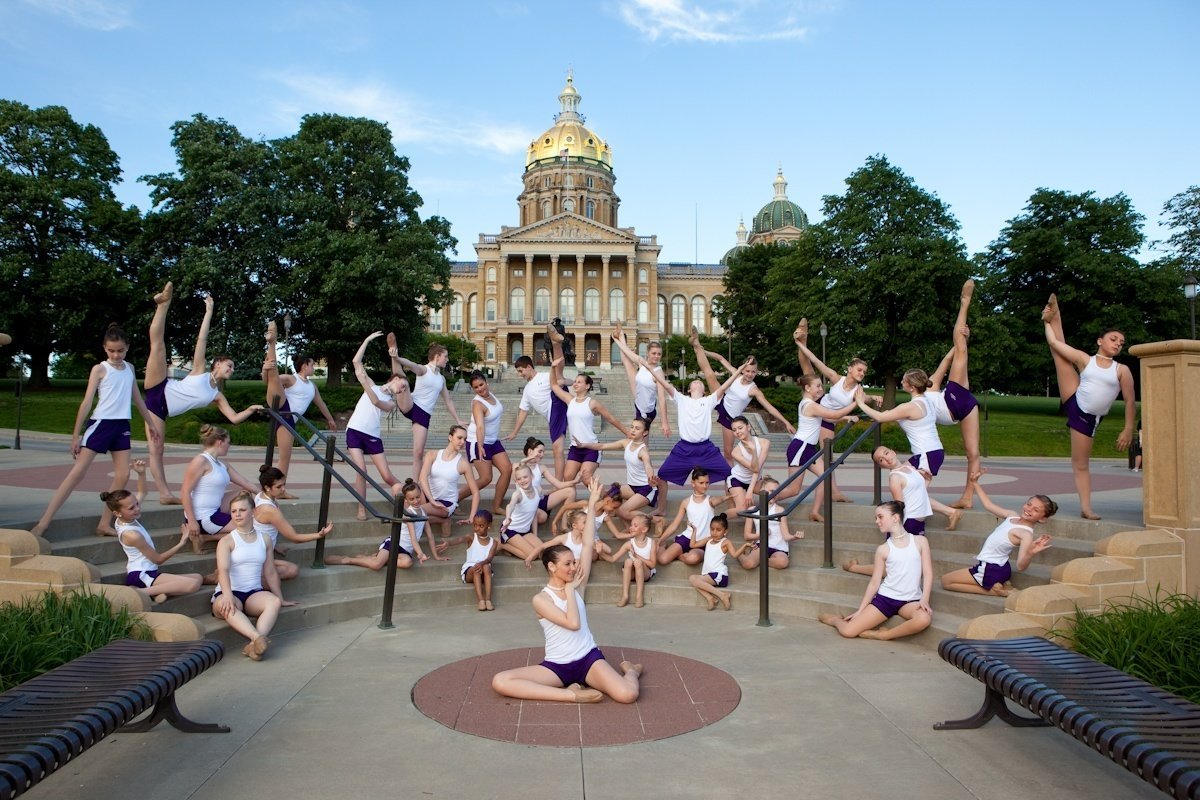 Brekke Dance Center at the Iowa State Capitol building in Des Moines